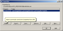 Импорт файла свойств