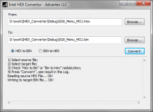 Intel Hex Converter for Windows