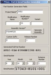 PNGen - Part and Serial Numbers Generator